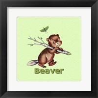 Framed Cute Baby Beaver