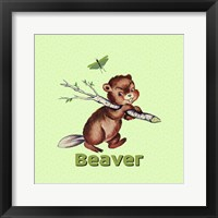 Framed Cute Baby Beaver