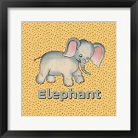 Framed Cute Baby Elephant