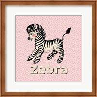 Framed Cute Baby Zebra