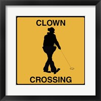 Framed Clown Crossing