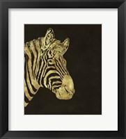 Framed Golden Zebra