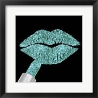 Framed Aqua Glitter Lipstick