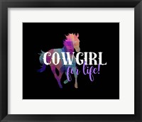 Framed Cowgirl for Life