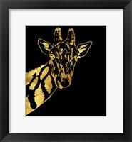 Framed Golden Giraffe