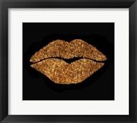 Framed Copper Glitter Kiss
