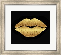 Framed Gold Leaf Kiss