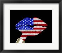 Framed Patriotic Lips I