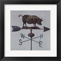 Framed Rural Relic Pig
