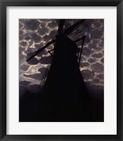 Framed Windmill at Night