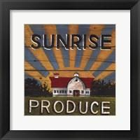 Framed Sunrise Produce