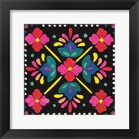 Framed Floral Fiesta Tile I