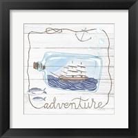 Framed Ship in a Bottle Adventure Shiplap