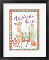 Framed Lovely Llamas IV No Probllama