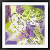 Framed Bright Life II Purple Yellow Line Crop