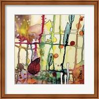Framed Oiseau Rouge