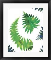 Framed Palm Leaves Composition