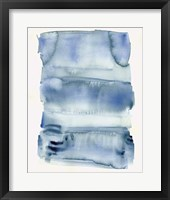 Framed Abstract Blue Watercolor