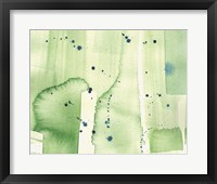 Framed Abstract Green Watercolor