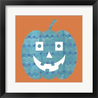 Framed Light Blue Pumpkin