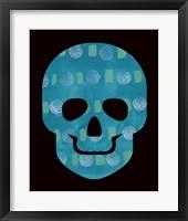 Framed Blue Skull