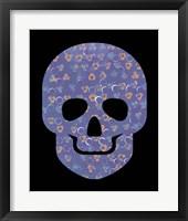 Framed Purple Skull