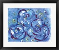 Framed Blue Roses