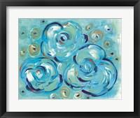Framed Teal Roses