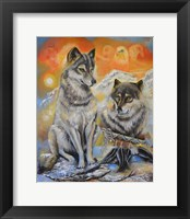 Framed Peace Wolves