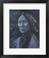 Framed Chief Lone Bear