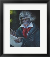 Framed Master Monkey Beethoven