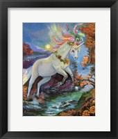 Framed Colour-Fall Unicorn