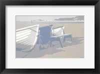 Framed Blue Boats Sandbanks