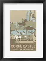 Framed Corfe Castle And The Purbecks
