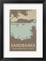 Framed Sandbanks And Brownsea Island 1