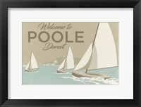 Framed Welcome To Poole Dorset 1