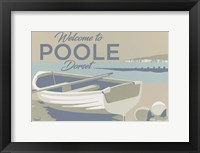 Framed Welcome To Poole Dorset 3