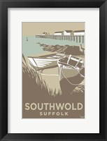 Framed Southwold Boats and Pier