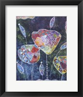 Framed Abstract Tulips