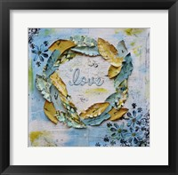Framed Feather Love