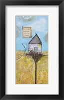 Framed Happy Home Bird House