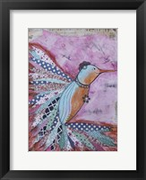 Framed Happy hummingbird