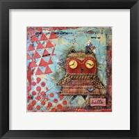 Framed Hello Owl
