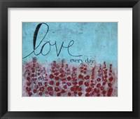 Framed Love Everyday Poppies