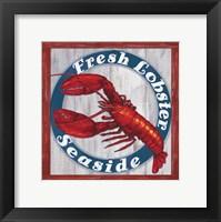 Framed Fresh Lobster Sign 1