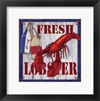 Framed Fresh Lobster Sign 2