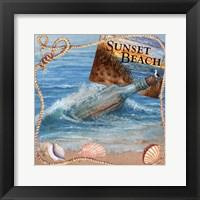 Framed Message In Bottle-Sunset Beach