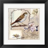 Framed Natural Bliss Birds -Tan