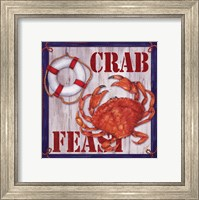 Framed Crab Feast Sign 2