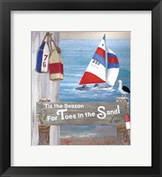 Framed Toes In The Sand  Plaque 2